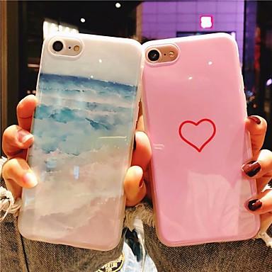 voordelige iPhone-hoesjes-hoesje Voor Apple iPhone XS Max / iPhone 6 Patroon Achterkant Hart / Landschap Zacht Siliconen voor iPhone XS / iPhone XR / iPhone XS Max