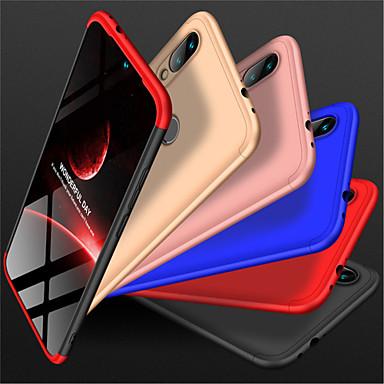 غطاء من أجل Xiaomi Xiaomi Redmi Note 5 Pro / Xiaomi Pocophone F1 / Xiaomi Redmi 6 Pro مثلج غطاء كامل للجسم لون سادة قاسي الكمبيوتر الشخصي
