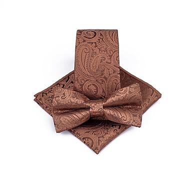 رخيصةأون ربطات العقدة-ربطات العنق والقبعات ورد / خملة الجاكوارد رجالي حفلة / عمل / أساسي