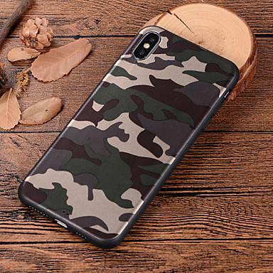 voordelige iPhone 7 hoesjes-hoesje Voor Apple iPhone XS / iPhone XR / iPhone XS Max Patroon Achterkant Camouflage Kleur Zacht TPU