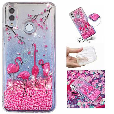 voordelige Huawei Mate hoesjes / covers-hoesje Voor Huawei Huawei Honor 10 / Huawei Honor 8X / Mate 10 lite Stromende vloeistof / Patroon / Glitterglans Achterkant Flamingo / Glitterglans Zacht TPU