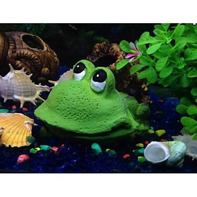 tanie Akwaria i akcesoria dla rybek-Akwarium Dekoracja akwarium Zdobienia Kamienie Zielony Przenośny Sztuczne Dekoracja Żywica 1 11*8*6.5 cm