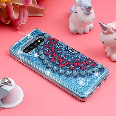 voordelige Galaxy S-serie hoesjes / covers-hoesje Voor Samsung Galaxy S9 / S9 Plus / S8 Plus Schokbestendig / Stromende vloeistof / Patroon Achterkant Mandala / Glitterglans Zacht TPU