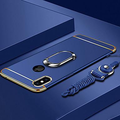 voordelige iPhone 6 Plus hoesjes-hoesje Voor Apple iPhone XS / iPhone XR / iPhone XS Max Beplating / Ringhouder / Ultradun Achterkant Effen Hard PC