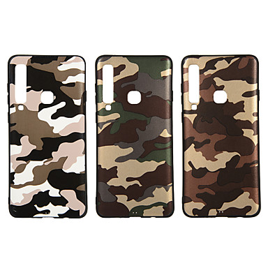 voordelige Galaxy A-serie hoesjes / covers-hoesje Voor Samsung Galaxy A6 (2018) / A6+ (2018) / Galaxy A7(2018) Mat / Patroon Achterkant Camouflage Kleur Zacht TPU