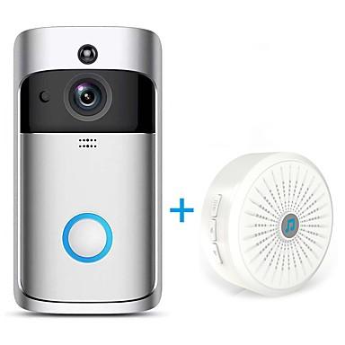 رخيصةأون كاميرات المراقبة IP-hqcam® اللاسلكية wifi كاميرا الجرس 1.0 النائب الذكية واي فاي فيديو إنترفون مدمج المتكلم خارج للشقق ir إنذار