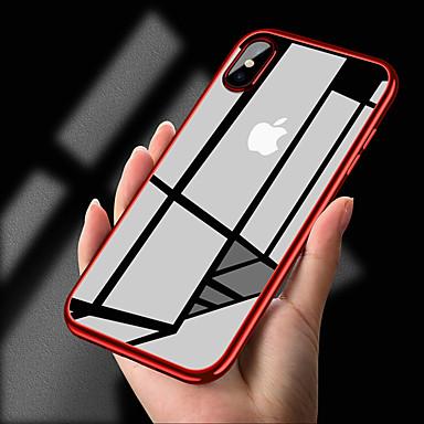 Недорогие Кейсы для iPhone-Кейс для Назначение Apple iPhone XS / iPhone XR / iPhone XS Max Покрытие / Ультратонкий / Прозрачный Кейс на заднюю панель Однотонный Мягкий ТПУ