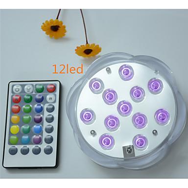 economico LED e illuminazione-1pc 5 W Luci subacquee Impermeabile / Controllato da remoto / Oscurabile Colori primari 4.5 V Adatto per vasi e acquari 12 Perline LED