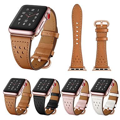 Недорогие Ремешки для Apple Watch-Ремешок для часов для Серия Apple Watch 5/4/3/2/1 Apple Спортивный ремешок Стеганная ПУ кожа Повязка на запястье