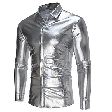 رخيصةأون قمصان رجالي-رجالي نادي قميص, لون سادة / كم طويل