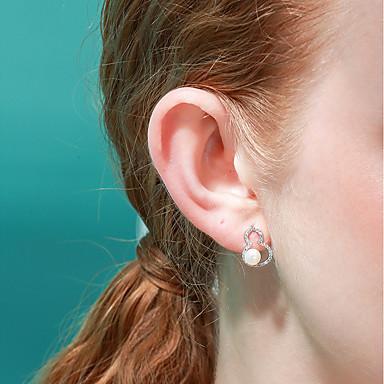 olcso Beszúrós fülbevalók-Női Beszúrós fülbevalók Édes Divat Small Gyöngy S925 ezüst Fülbevaló Ékszerek Fehér Kompatibilitás Ajándék Napi 1 pár