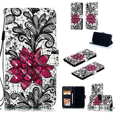 Недорогие Кейсы для iPhone 7 Plus-Кейс для Назначение Apple iPhone XS / iPhone XR / iPhone XS Max Кошелек / Бумажник для карт / со стендом Чехол Кружева Печать Твердый Кожа PU