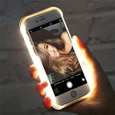 Недорогие Кейсы для iPhone 6 Plus-Кейс для Назначение Apple iPhone XS Max / iPhone 6 LED Кейс на заднюю панель Однотонный Твердый пластик для iPhone XS / iPhone XR / iPhone XS Max