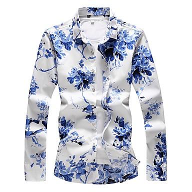رخيصةأون قمصان رجالي-رجالي قياس كبير - قطن قميص, ورد