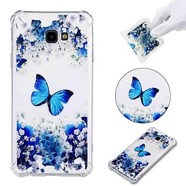 olcso Egyéb tokok Samsung készülékekhez-Case Kompatibilitás Samsung Galaxy J7 (2017) / J7 (2016) / J7 Ütésálló / Átlátszó / Minta Fekete tok Pillangó Puha TPU