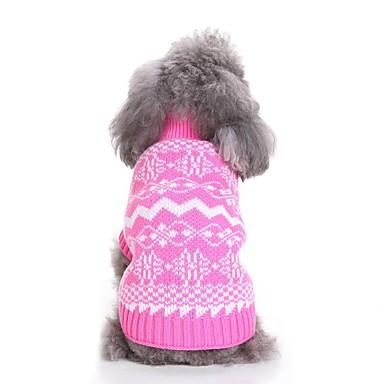 رخيصةأون ملابس وإكسسوارات الكلاب-كلاب البلوزات الشتاء ملابس الكلاب أزرق زهري كوستيوم فصيل كورجي كلب صيد كلب البلدغ Chinlon شخصية الأزهار النباتية ندفة ثلجية أسلوب بسيط Halloween S M L XL XXL