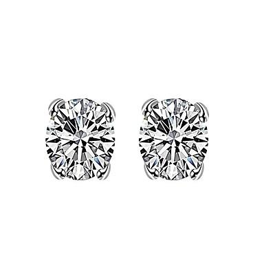 6d7c2ac9440a0 [$5.49] Women's Clear Cubic Zirconia Stud Earrings Earrings Geometrical  Stylish Trendy Fashion Elegant Silver Plated Earrings Jewelry Silver For ...