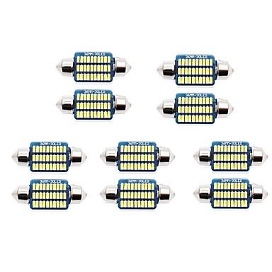 Недорогие Освещение салона авто-10 шт. 31mm / 36mm Автомобиль Лампы 1 W SMD 3014 60-100 lm 21/30 Светодиодная лампа Подсветка для номерного знака / Внутреннее освещение Назначение Универсальный