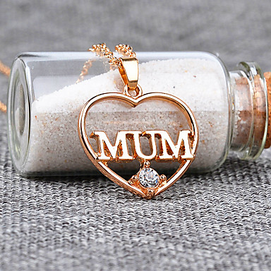 a43c4d3ae5f Women's Cubic Zirconia Pendant Necklace Name Heart Letter Fashion Modern Chrome  Imitation Diamond Gold Silver 45+5 cm Necklace Jewelry 1pc For Gift Daily  ...