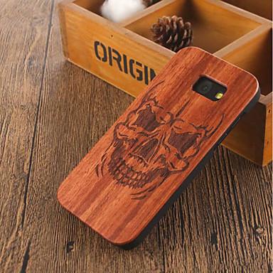 abordables Coques / Etuis pour Galaxy Série A-Coque Pour Samsung Galaxy A5 Antichoc Coque Apparence Bois Dur En bois
