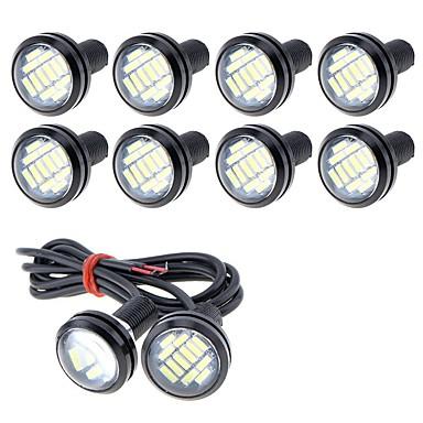 voordelige Motorverlichting-10 stuks Draad verbinding Motor / Automatisch Lampen 5 W SMD 4014 250 lm 12 LED Mistlamp / Dagrijverlichting / Nummerplaatverlichting Voor Universeel