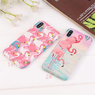 voordelige iPhone X hoesjes-hoesje Voor Apple iPhone XS / iPhone XR / iPhone XS Max Ultradun / Patroon Achterkant Flamingo / dier Hard PC