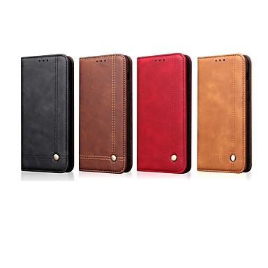 povoljno Maske/futrole za Xiaomi-Θήκη Za Xiaomi Xiaomi Redmi Note 5 Pro / Xiaomi Pocophone F1 / Xiaomi Redmi 6 Pro Novčanik / Utor za kartice / sa stalkom Korice Jednobojni / Țiglă Tvrdo PU koža