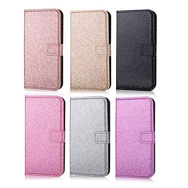 غطاء من أجل Huawei هواوي P30 / Huawei P30 Pro / هواوي P30 لايت محفظة / حامل البطاقات / مع حامل غطاء كامل للجسم لون سادة / بريق لماع قاسي جلد PU