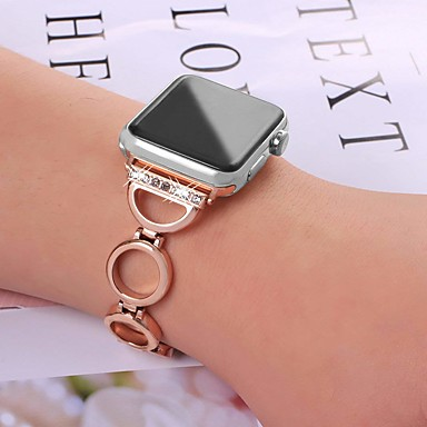 Недорогие Аксессуары для смарт-часов-SmartWatch для Apple Watch серии 4/3/2/1 Apple, ювелирные изделия дизайн браслет из нержавеющей стали