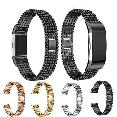 billige Klokkeremmer til Fitbit-Klokkerem til Fitbit Charge 2 Fitbit Smykkedesign Stål / Rustfritt stål Håndleddsrem