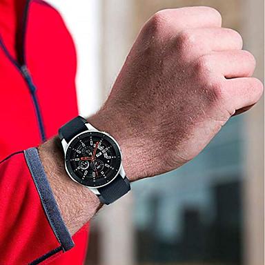 Недорогие Часы для Samsung-Ремешок для часов для Gear S3 Classic / Samsung Galaxy Watch 46 Samsung Galaxy Спортивный ремешок силиконовый Повязка на запястье