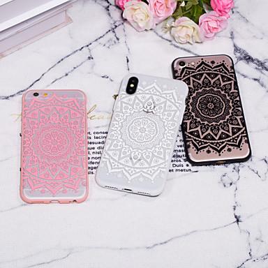 voordelige iPhone 8 hoesjes-hoesje Voor Apple iPhone XS / iPhone XR / iPhone XS Max Reliëfopdruk / Patroon Achterkant Lace Printing Hard PC
