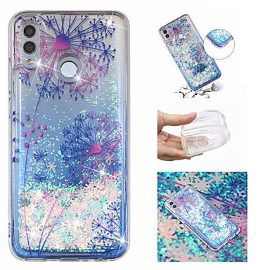 voordelige Huawei Mate hoesjes / covers-hoesje Voor Huawei Huawei Honor 10 / Huawei Honor 8X / Mate 10 lite Stromende vloeistof / Patroon / Glitterglans Achterkant Glitterglans / Paardebloem Zacht TPU