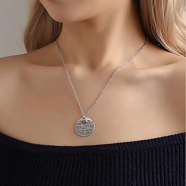 olcso Vallomás nyakláncok-Női Nyilatkozat nyakláncok Klasszikus Króm Ezüst 55 cm Nyakláncok Ékszerek 1db Kompatibilitás Karácsony Utca Szabadság Klub Fesztivál