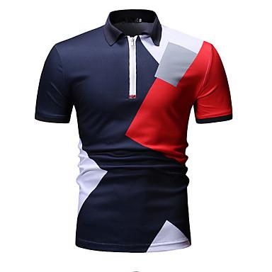 رخيصةأون بولو رجالي-رجالي بولو ستايل, ألوان متناوبة قبعة القميص