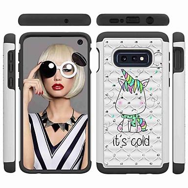 voordelige Galaxy S-serie hoesjes / covers-hoesje Voor Samsung Galaxy S9 / S9 Plus / S8 Plus Schokbestendig / Strass / Patroon Achterkant Woord / tekst / Eenhoorn Hard PC