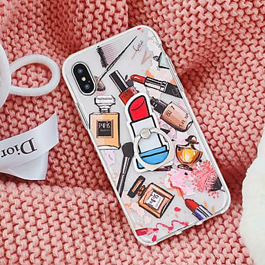 voordelige iPhone-hoesjes-hoesje Voor Apple iPhone XS / iPhone XR / iPhone XS Max Ringhouder Achterkant Sexy dame / Cartoon Zacht TPU
