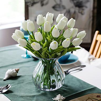 زهور اصطناعية 10 فرع كلاسيكي أوروبي أسلوب بسيط أزهار التولب أزهار الطاولة