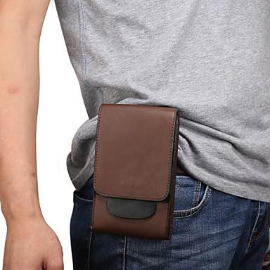 Недорогие Универсальные чехлы и сумочки-6-дюймовый чехол для универсального держателя карты талии сумка / талия сплошной цвет мягкая искусственная кожа