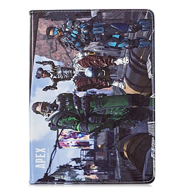 رخيصةأون أغطية أيباد-غطاء من أجل Apple iPad Air / iPad 4/3/2 / iPad Mini 3/2/1 ضد الصدمات / نموذج / مغناطيس غطاء كامل للجسم كارتون / رسم زيتي قاسي جلد PU / iPad (2017)