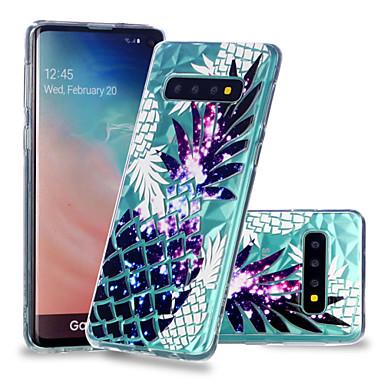 رخيصةأون حافظات / جرابات هواتف جالكسي S-غطاء من أجل Samsung Galaxy S9 / S9 Plus / S8 Plus ضد الصدمات / شفاف / نموذج غطاء خلفي فاكهة ناعم TPU