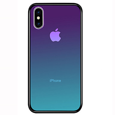 Недорогие Кейсы для iPhone-Кейс для Назначение Apple iPhone 11 / iPhone 11 Pro / iPhone 11 Pro Max Защита от удара Кейс на заднюю панель Градиент цвета Твердый Закаленное стекло