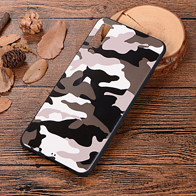 voordelige Galaxy A-serie hoesjes / covers-hoesje Voor Samsung Galaxy A6 (2018) / Galaxy A7(2018) / A3 (2017) Patroon Achterkant Camouflage Kleur Zacht TPU