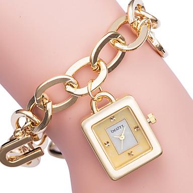 رخيصةأون ساعات النساء-ASJ نسائي ساعة فستان ساعة ذهبية ياباني كوارتز الأبيض / ذهبي ساعة كاجوال مماثل أنيق - ذهبي فضي / SSUO SR626SW+CR2025