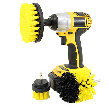cheap Power Tools-3-in-1 Electric Drill Brush Head Bathroom Surfaces Tub Shower Tile and Grout All Purpose Cleaning Kit