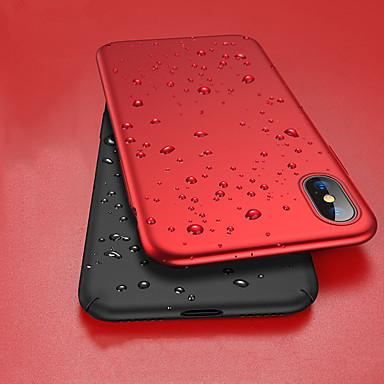 Недорогие Кейсы для iPhone X-Кейс для Назначение Apple iPhone XS / iPhone XR / iPhone XS Max Защита от удара / Ультратонкий / Матовое Чехол Однотонный Твердый ПК
