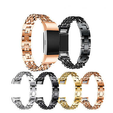 voordelige Mobiele telefoon-accessoires-Horlogeband voor Fitbit Charge 2 Fitbit Sportband Roestvrij staal Polsband