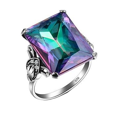 رخيصةأون خواتم-نسائي خاتم 1PC التقزح اللوني حجر الراين سبيكة هدية مناسب للبس اليومي مجوهرات محبوب