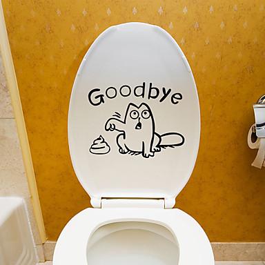 لواصق المرحاض - لواصق حائط الطائرة حيوانات غرفة الجلوس / غرفة النوم / دورة المياه / لواصق المرحاض    / قابل اعادة الوضع