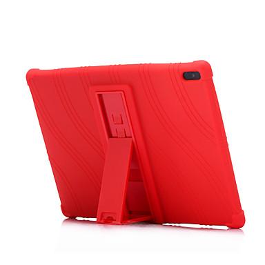 Недорогие Чехлы и кейсы для Lenovo-Кейс для Назначение Lenovo Lenovo Tab 4 8 Plus / Lenovo Tab 4 8 / Lenovo Tab 4 10 Plus Защита от удара / со стендом Кейс на заднюю панель Однотонный Мягкий Силикон